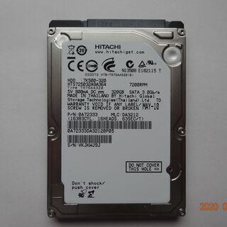 日立製ノートPC用 HDD 298GB、中古品