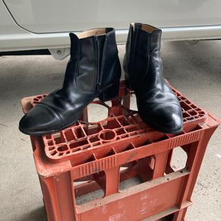 黒 革靴 メイドインジャパン