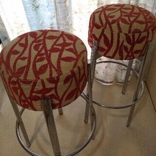 カウンターチェア 2つセット 椅子