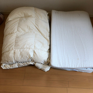シングル羽毛布団セット 低反発マットレス