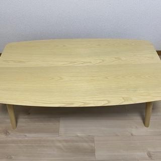 折りたたみ式テーブル兼こたつ(こたつ布団つき)