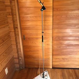 マイクスタンド(有線マイク2本付) - 家電