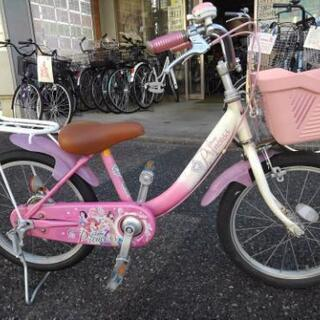 中古子供自転車1142 ディズニープリンセス 18インチ ギヤな...