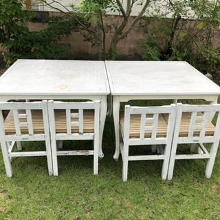 猫足 テーブル 2卓 チェア 4脚