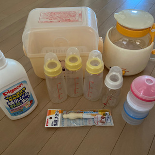 調乳セット 哺乳瓶、ポット、消毒用品など