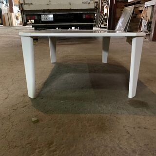 DCM キズ・汚れがつきにくいテーブル DCM-FVK9060 WH 格安 - 家具