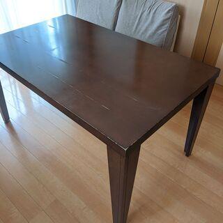 【近隣配達可】ダイニングテーブル 135×80×72 ブラウン ...
