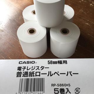 CASIO 電子レジスター普通紙ロールペーパー 5巻