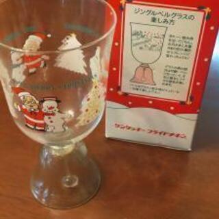 クリスマスグッズのジングルベルグラス