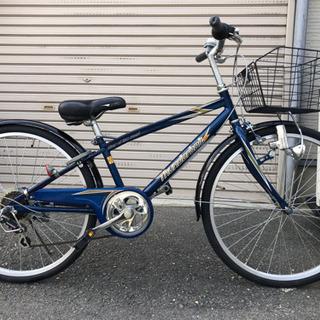 ❤️子ども自転車 メタル紺変速有り24インチ