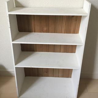 [譲ります]4段 木製シェルフ