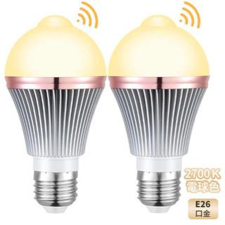 新品未使用、LED電球 センサー人感センサーライト E26口金 ...