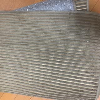 洗える2層ウレタンストライプフランネルラグ AS-530 Sサイズ カーペットの画像