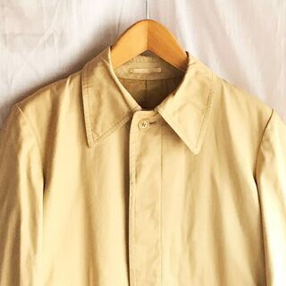 【USED】希少 khaki beige balmacaan coat