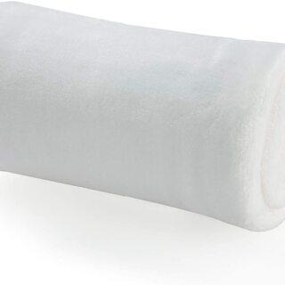 マイクロファイバー 毛布 白 70x100cm
