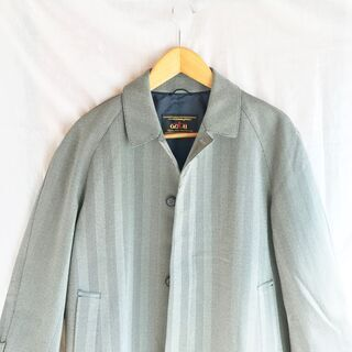 古着 ヘリンボーン ステンカラーコート