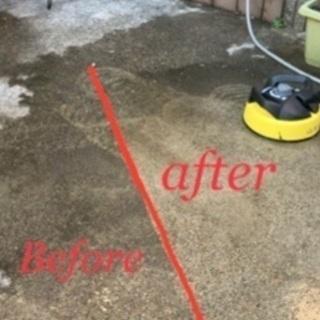 高圧洗浄 ハウスクリーニング お家の玄関ポーチ、駐車場やベランダ...