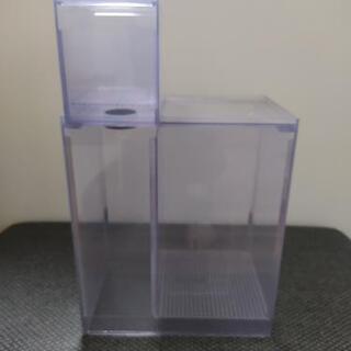 《未使用!》塩ビ製小型ろ過装置+ウールBOX オーバーフロー