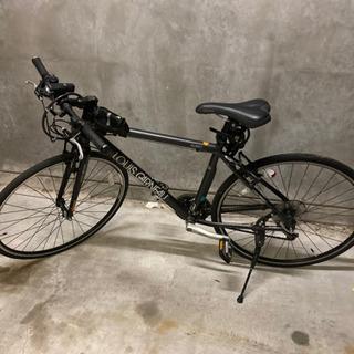 期間限定!!オシャレなクロスバイク!! マットブラック ル…
