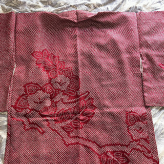 羽織り ワインレッドと小豆色の間くらい 梅 椿