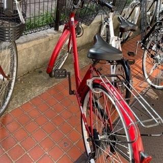 【決定しました】10/24、25取引限定。自転車赤