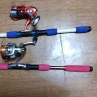 赤.青.釣り竿セット