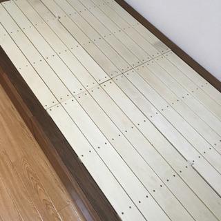 【10/24まで】無印良品 収納ベッド・シングル ウォールナット
