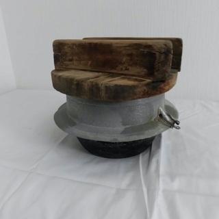 骨董品、昭和レトロ、アンティーク、羽釜(蓋とセット)