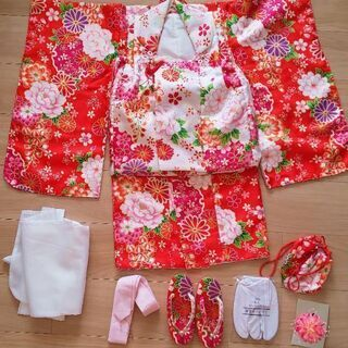 三歳 女児 七五三被布着物セット美品