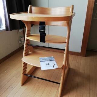 くるりとまわるテーブル付き! 木製 ベビー ハイチェア DELU...