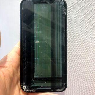 液晶が大破してしまったiPhoneXRも20分で修理完了!!