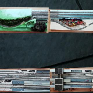 鉄道模型 Njゲージ&Nゲージ 分割レイアウト ジオラマ