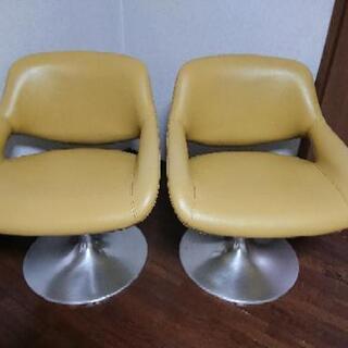 値下げ!コクヨ ラウンジチェア  椅子  2脚   ミッド…