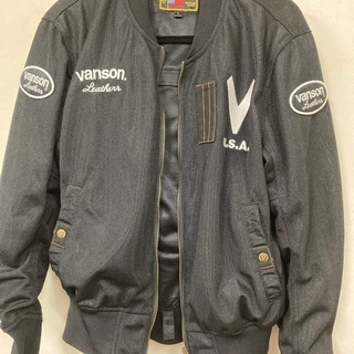 【美品】VANSONライダースメッシュジャケット