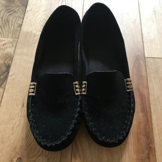 新品 未使用 冬 靴 モカシン おしゃれ 小さい 22cm  2...
