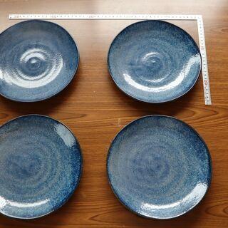 食器 藍色青色 濃紺 和食器 中皿