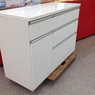 【期間限定!ジモティー見たで5%OFF】木製ホワイト色のキッチン...