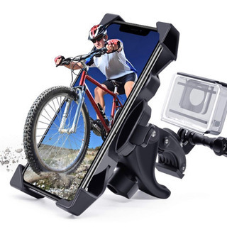 新品未使用、バイク用 スマホホルダー 自転車 スマホホルダ…