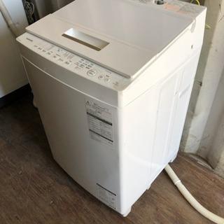 0819-102 TOSHIBA 洗濯機 AW-7D6 2018年製 7kg ② - 家電