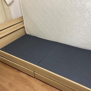 収納付き シングルベッド