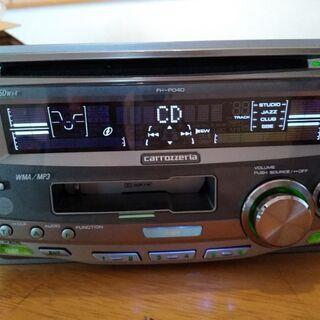 パイオニア 2DINデッキ CD+カセット