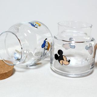 【ネット決済・配送可】ディズニー コルクの蓋付き ガラスキャニスター