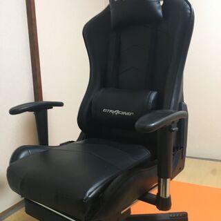 ★GTRACING ゲーミングチェア オットマン リクライニング 肘掛け付き 黒 GT901BLACK★ - 藤沢市