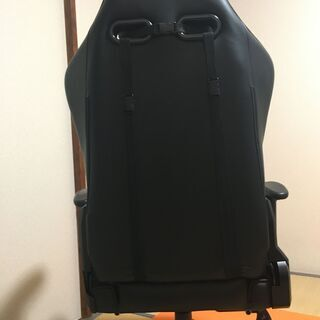 ★GTRACING ゲーミングチェア オットマン リクライニング 肘掛け付き 黒 GT901BLACK★ - 家具