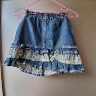 150cm &130cm デニムスカート 2サイズあります。 - 子供用品
