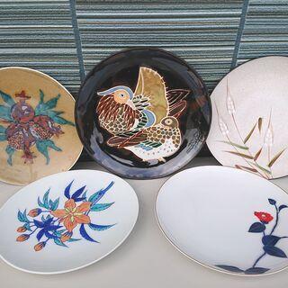 陶器の装飾用大皿 中古品