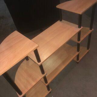 【良品】木製 おしゃれラック 木製 ナチュラル ラック 配…