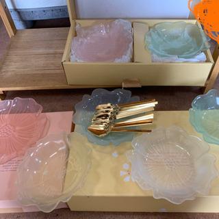 デザート皿15枚 デザートスプーン10本 HANAセット 🌈 しげん屋