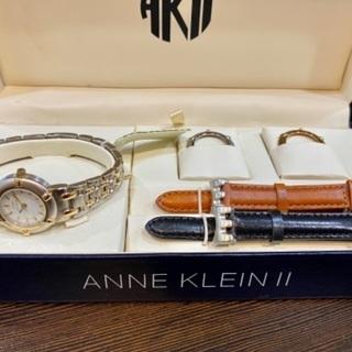 ★ ANNE KLEIN Ⅱ 腕時計/ベゼル/革ベルトSET ★