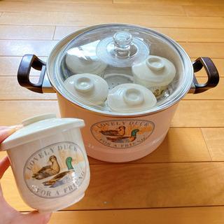 蒸し器と茶碗蒸し皿 セット
